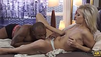 BLACK4K. Repairman cant believe such a beautiful girl wants shaft