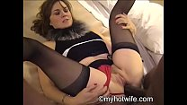 Housewife Jackie jizz faced by black!