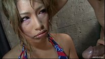 Blond Japanese Slut Rumika Skull Fucked by a Horny Guy