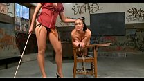 bdsm rough sex - Brunette teen satisfying her milf mistress - WWW.GIFALT.COM - bondage fetish thumbnail