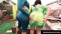 Lovely Latinas Angelina Castro & Ms Raquel StrapOn Cunt Fuck