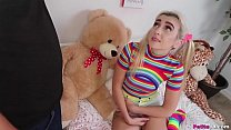 Pigtails and Rainbows - Petite Teen Fuck's Thumb