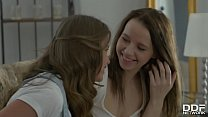 Horny Teen Couple Olivia Grace & Jacqueline Lic...