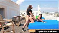 Curvy Cuban Angelina Castro Is Pussy Pounded On Hotel Roof! porn thumbnail