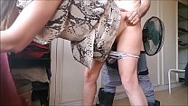T&A 599 - BlowJob & Doggy Fuck in Snake Dress