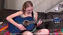 naked guitar playing teen Preview