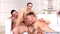 Hot wife shares her lover with her hubby