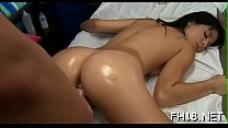 Watch this hawt and slutty 18 yea rold get screwed hard from behind by her massage therapist