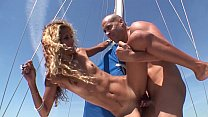 Sex in a yacht with a hot skinny cuban girl video