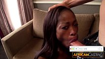 Skinny African Babe Fucked By Big White Cock