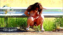 TOTALLY NAKED AND PEENG ON THE STREET - DANNA HOT