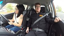 Fake Driving School Spunk covered pussy for busty British babe Alice Judge - 9Club.Top