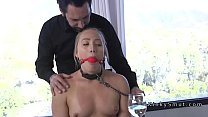 Dudes boss bangs his wife in bondage Image