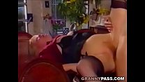 Blonde Grandma Gets Pounded On The Table Vorschaubild