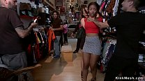 Ebony fucked for public in vintage shop pornhub video