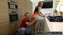 Purple hair teen Janice Griffith pounded by hug... Thumbnail