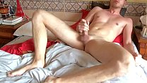 Gay twink cums with p.