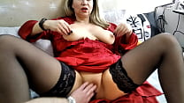 A Cool Russian Mature Whore Sucks Two Dicks And
