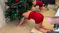 Stepmom gets stuck and fucked in the christmas tree - Erin Electra Preview