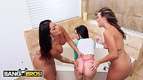 BANGBROS - Lesbian Lovers Spicy J and Victoria Banxxx Turn Maid Kiley Jay Into Their Bitch Preview