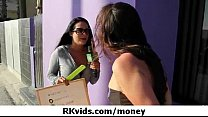 Gorgeous teens getting fucked for money 12 thumbnail