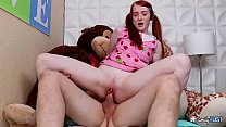 Little GINGER STEP-SIS in BRACES - She Got Pene... thumb