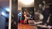 12575 Hot Brunette Sucking Big Dildo and Fisting Anal in the Red Dress preview