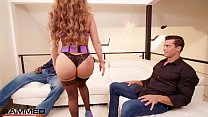 Rammed - PAWG MILF Richelle Ryan twerks on two big dicks's Thumb