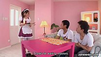 Maid messes up the spaghetti then gets threesome fucked - 69VClub.Com
