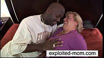Big tits mom interracial