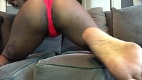 girl shaking ass grinding couch hairy pussy panties shaved asshole preview image