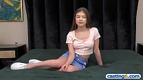 Young latina from Texas visits completely fake casting Preview