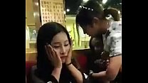Public blowjob in restaurant asia