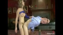 Tranny baits and fucks a man in her dungeon