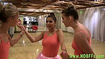 Teen licks les ballerina thumbnail