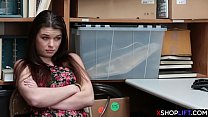 Hot smart ass teen gets caught stealing and hard fucked - 9Club.Top