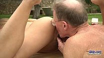 Tighty Body Young Girl Fucked Grandpa Sucked his Old Cock and Licked pussy صورة