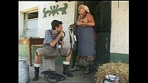 Old woman fucked in the farm of shame!