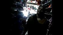 Indian Aunty showing off body in shop part 2