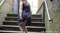 Uk teen flashing and blonde exhibitionism outdoors of sexy young Laura