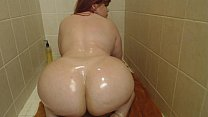 Pawg Marcy Diamond in the shower shaking and an...