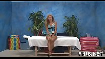 Concupiscent teen gets drilled hard by massage therapist Thumbnail