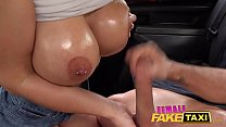 Female Fake Taxi Busty blonde babe Nathaly Cherie oiled and fucked