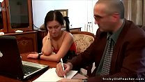 Tricky Old Teacher - Hot pigtailed brunette get... thumb