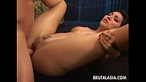 Super hot Asian babe getting rocked and she cums thumbnail
