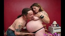 Hubby Pampers Her Wife Fucking Her Shaved Pussy porn image