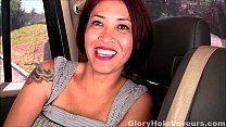 Asian MILF First Gloryhole Blowjob and Interview - download porn videos