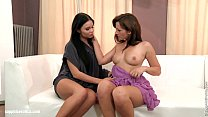 Steamy lesbian action featuring brunettes Tess and Viky by Sapphic Erotica