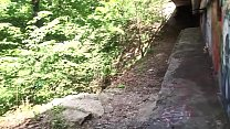 jacking my small dong under the bridge / bruce trail .... fuck so horny