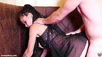 Horny Brunette Passionate Doggy Fucking After W